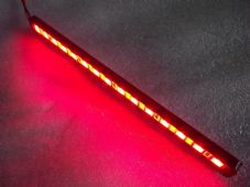 LED strip with machined cnc black case red leds, LED stop OR tail light